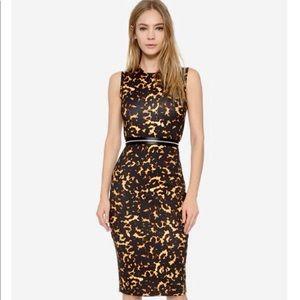 Alexander McQueen Printed Zip Bodycon Dress